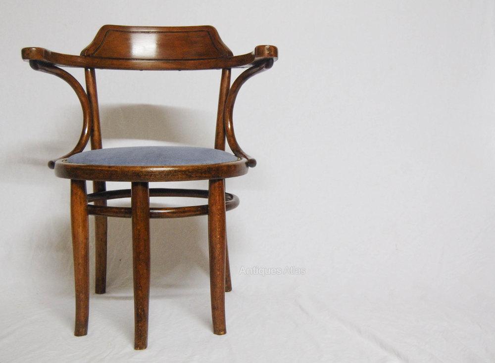 Thonet Bentwood Desk Chair Schreibtischfauteuil N3 Antique Armchairs Occasional Chairs