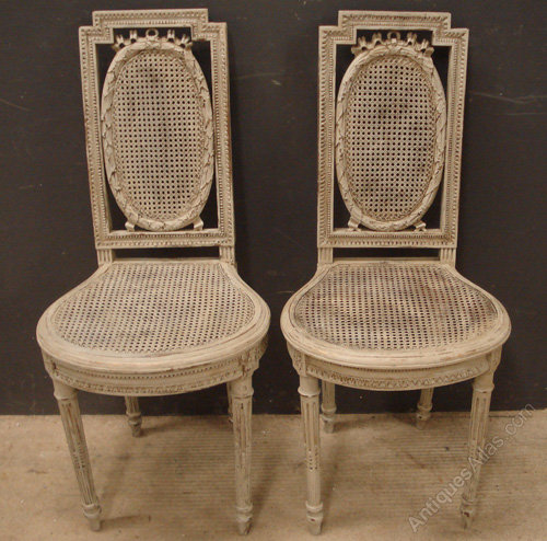 Bon Antique French Cane Side Chairs ...