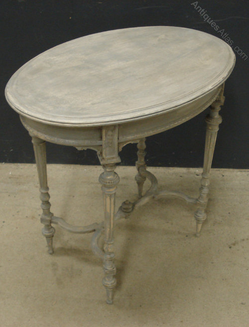 French Oval Side Table Antique ...