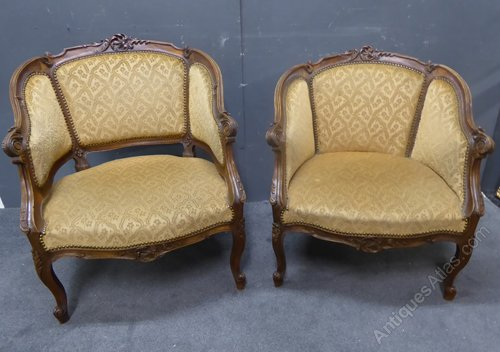 pair of antique french armchairs antiques atlas