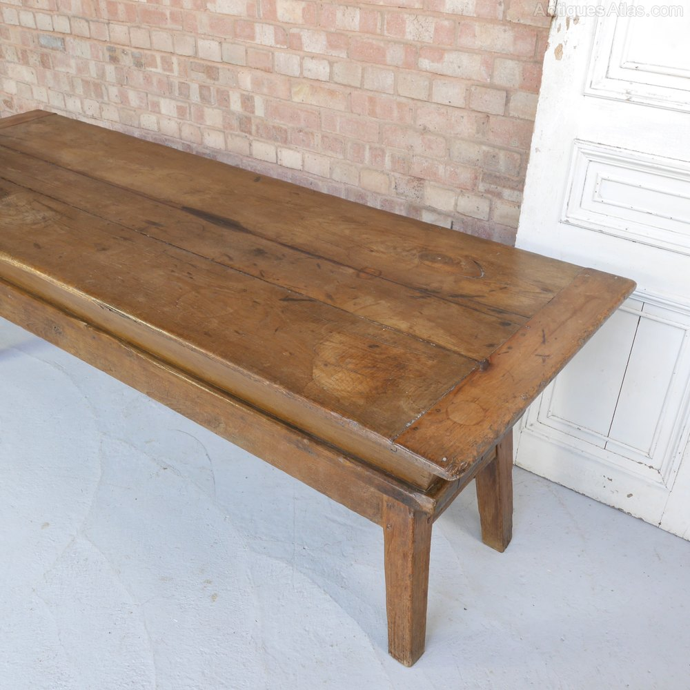 Antique French Oak Proving Table Trough Country / Farmhouse Tables