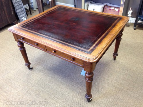 Victorian Oak Library Table Antique ...
