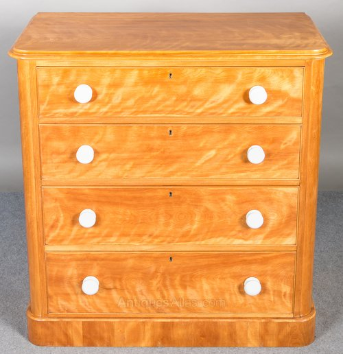 Antique Satinwood Dresser Other Antique Furniture Edwardian (1901-1910)