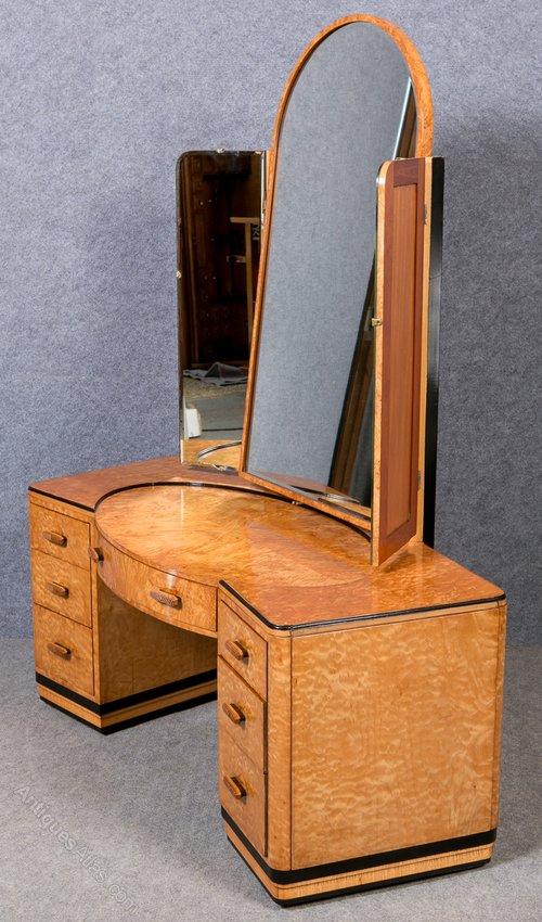 Art Deco Triptych Dressing Table Antiques Atlas