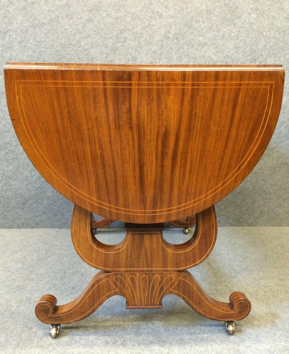 Antique sofa table - Biedermeier Sofa Table Antique Occasional Tables
