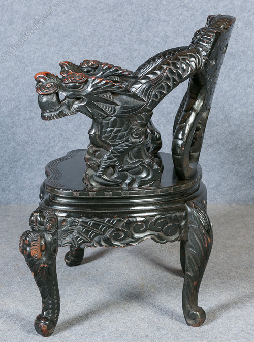 Chinese Dragon Armchair Antique Armchairs Oriental Chair Chinese chair ... - Chinese Dragon Armchair - Antiques Atlas