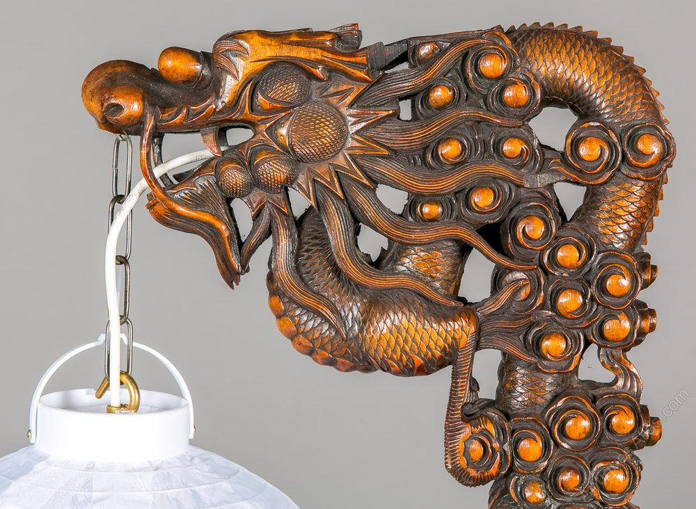 Chinese Dragon Carved Standard Lamp Antique Lighting, Antique Standard Lamps  ...