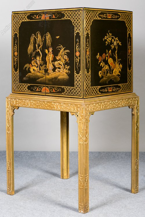 Chinoiserie Cocktail Cabinet Antique Cocktail / Drinks Cabinets ... - Chinoiserie Cocktail Cabinet - Antiques Atlas
