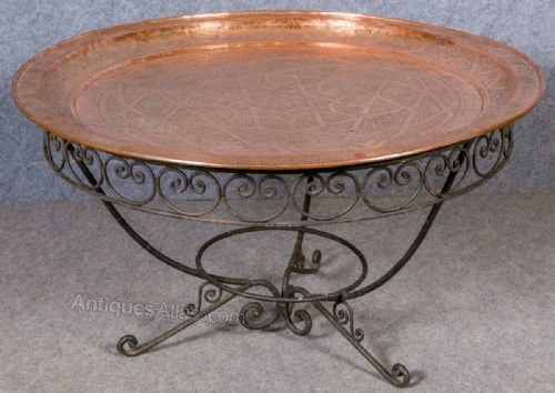 Copper Iron Coffee Table Antiques Atlas