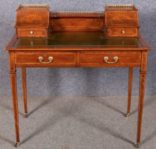 Edwardian Sheraton Style Writing Table Antiques Atlas