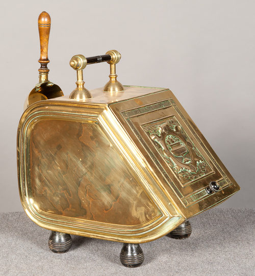 Antiques Atlas - Henry Fearncombe Brass Coal Box