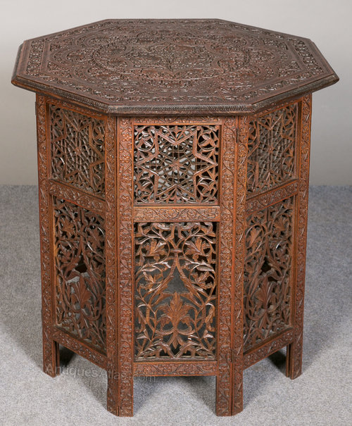 Indian Teak Occasional Table Antiques Atlas
