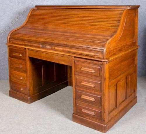 Large Oak Roll Top Desk Antiques Atlas