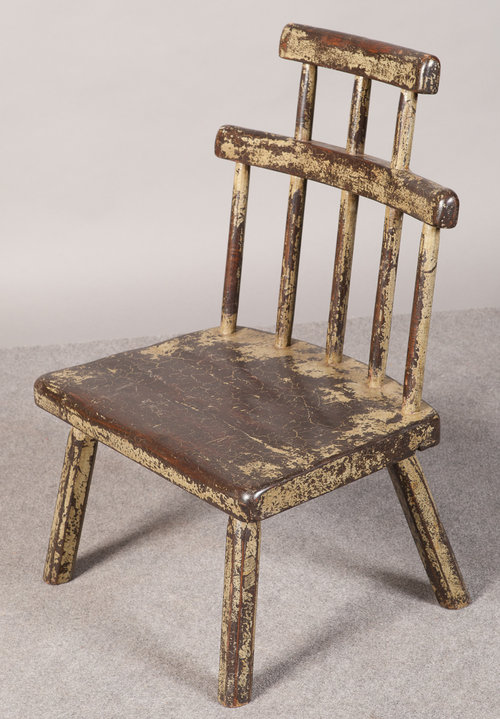 Old Painted Comb Back Chair Antiques Atlas