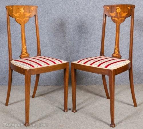 Pair Of Art Nouveau Chairs Antiques Atlas