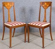 art nouveau furniture. pair of art nouveau chairs furniture 5
