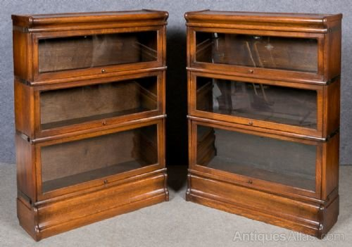 Pair Of Oak Globe Wernicke Bookcase