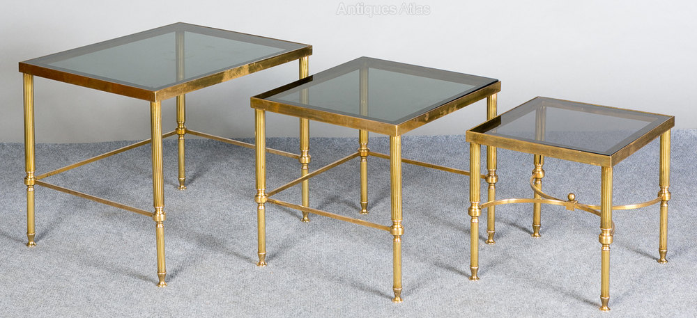 ... Nest Of Tables Retro Brass ...