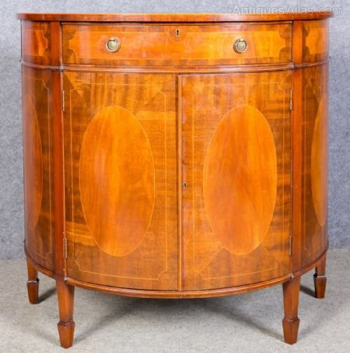 Sheraton Revival Demi Lune Cabinet Commode Antiques Atlas