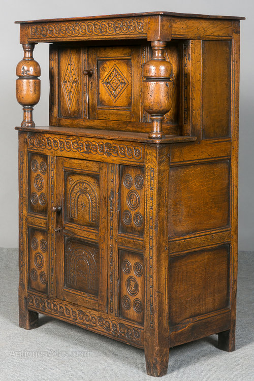 Small Carved Oak Court Cupboard - Small Carved Oak Court Cupboard - Antiques Atlas