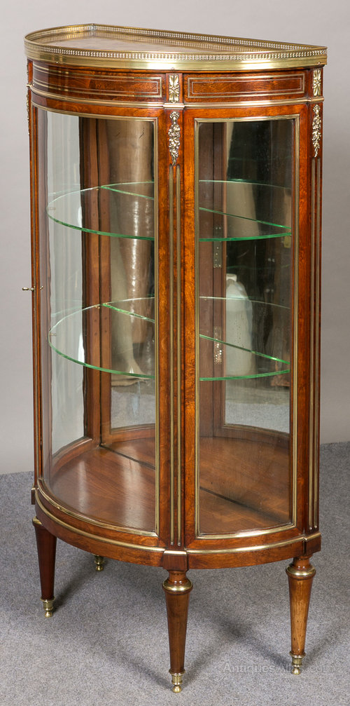 Small French Vitrine/Display Cabinet - Antiques Atlas