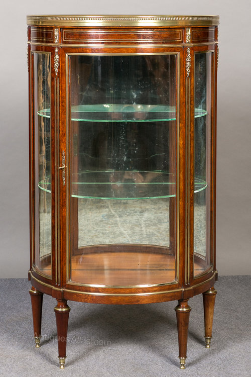 Small French Vitrine Display Cabinet