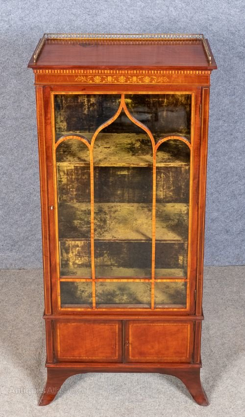 Small Superior Quality Inlaid Display Cabinet Antiques Atlas