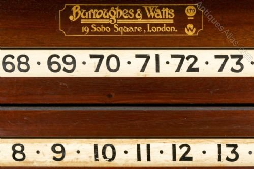 Antiques Atlas Superb Snooker Scoreboard Cabinet By