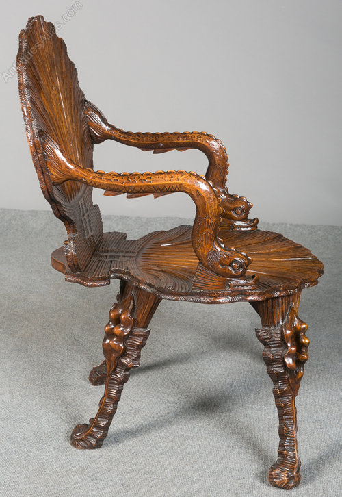 Charmant Venetian Grotto Fantasy Chair Antique Grotto Chairs ...