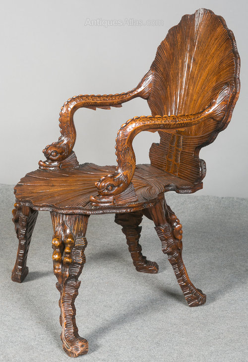 Gentil Venetian Grotto Fantasy Chair Antique Grotto Chairs ...