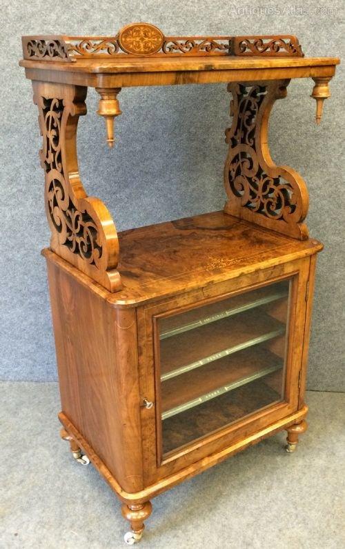 Victorian Walnut Cabinet Whatnot ...