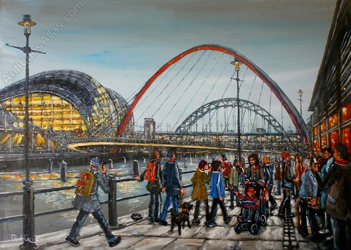 Antiques Atlas Millenium Bridge And The Sage Newcastle