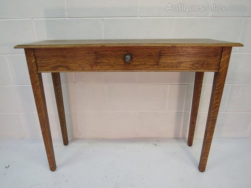 Super Arts And Crafts Oak Console Table Single Drawer Andrewgaddart Wooden Chair Designs For Living Room Andrewgaddartcom