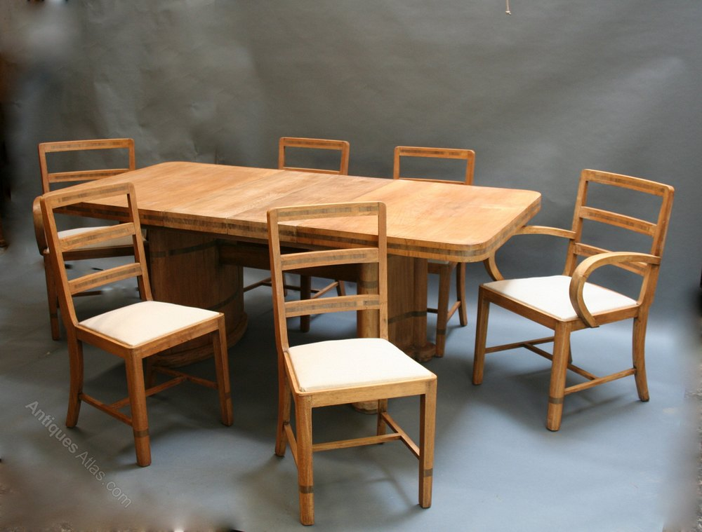 Art Deco Dining Table Chairs Antiques Atlas