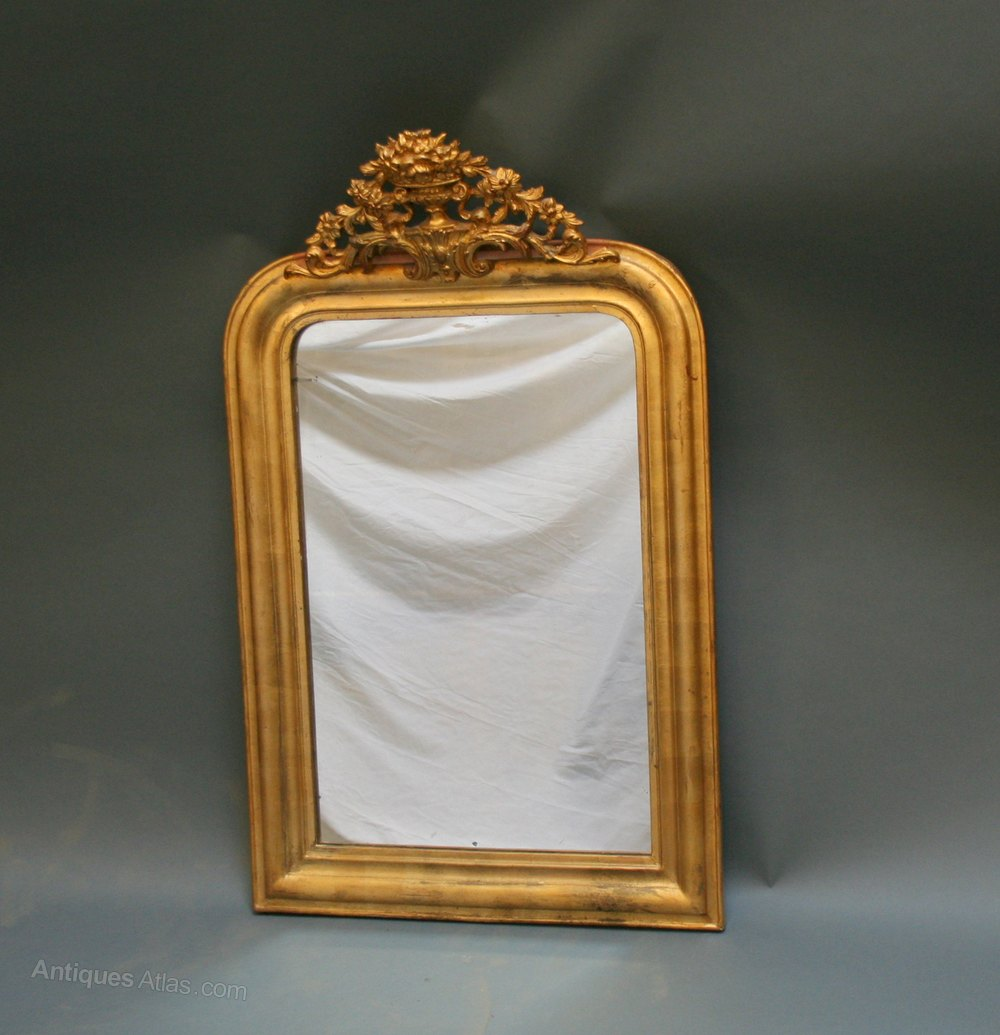 Antiques atlas french gilt overmantle mirror for Overmantle mirror
