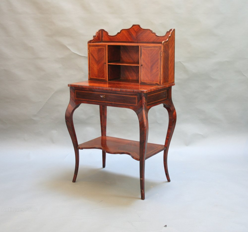 French rosewood bureau de dame antiques atlas for Bureau in french