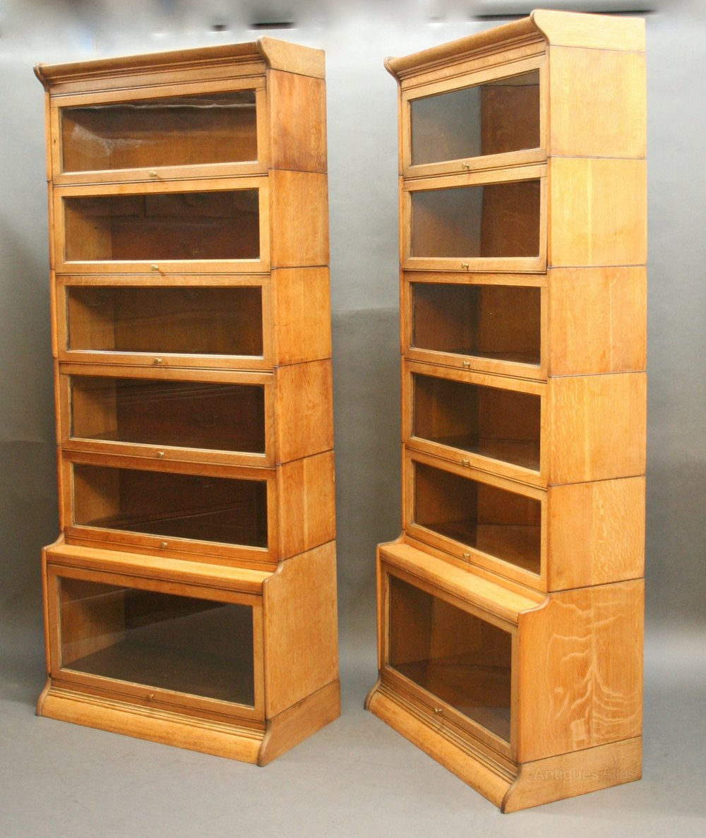 Pair Globe Wernicke Type Bookcases By Gunn Antiques Atlas
