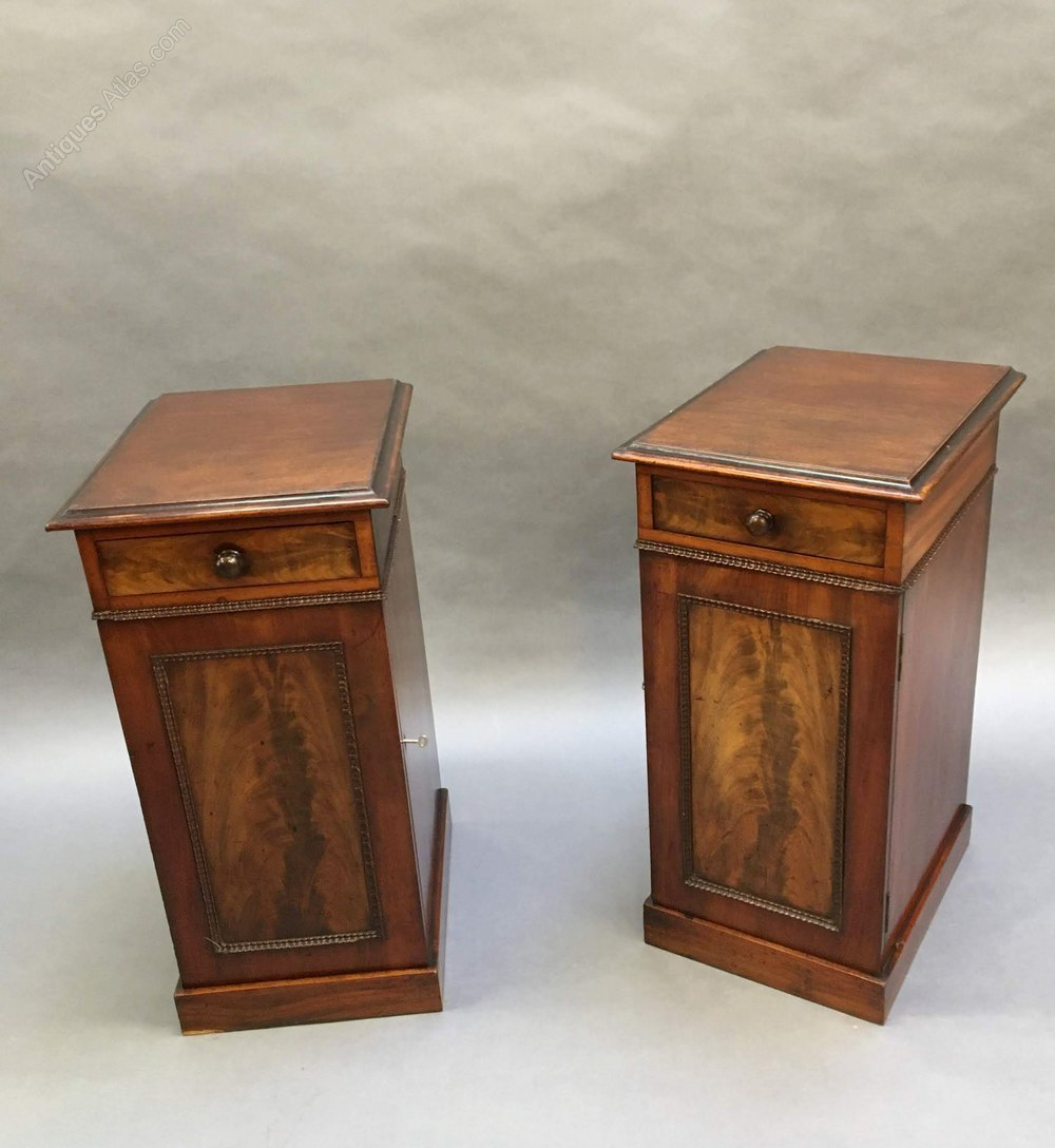 Picture of: Pair Victorian Bedside Cabinets Antiques Atlas
