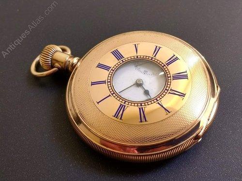 99af73474 Waltham Rose Gold Filled Half Hunter Pocket Watch Antique Half Hunter  Pocket Watches ...