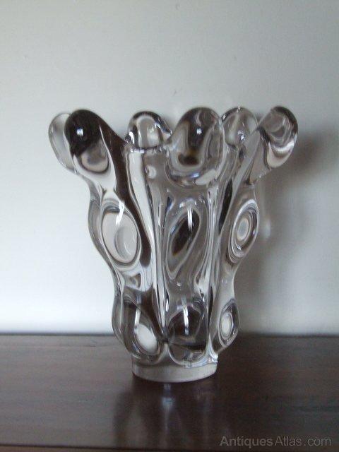 Antiques Atlas Crystal Glass Vase 1930 50s By Vannes Le Chatel