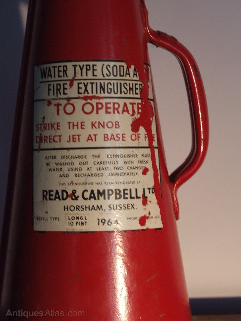 Antiques Atlas Vintage Fire Extinguisher Lamp