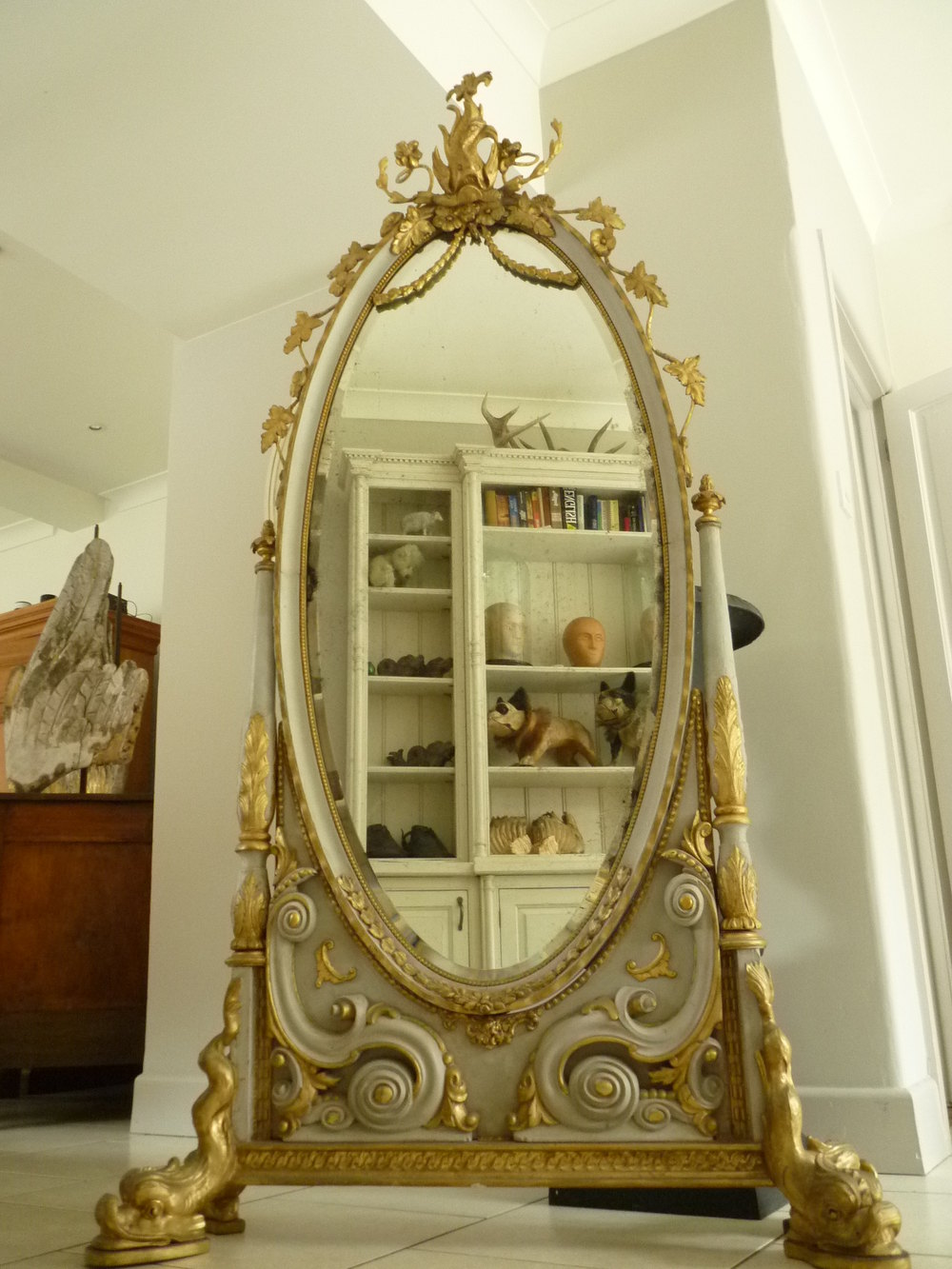 Antiques Atlas 19th Century Carved Wooden Gilt Cheval Mirror