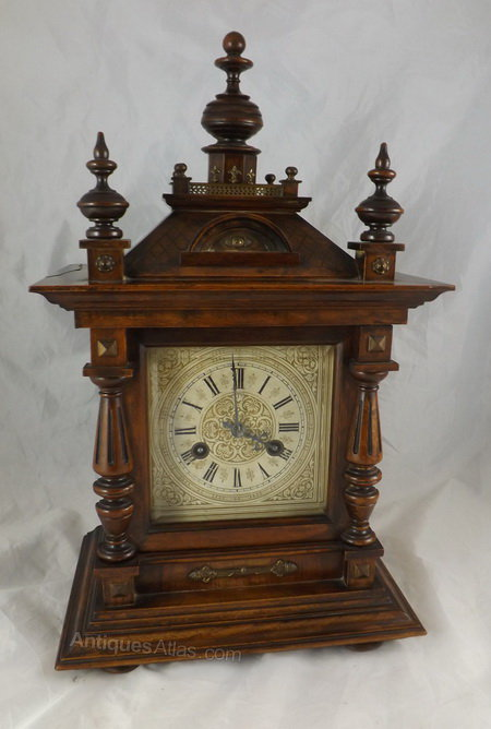 Antiques Atlas A Walnut German Mantel Clock