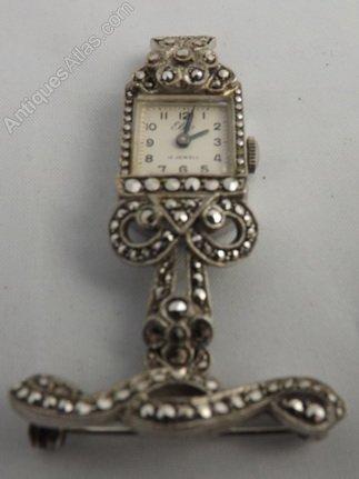 4080fe3dc Antiques Atlas - Art Deco Brooch Ladies Watch