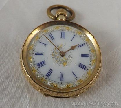 Antiques Atlas Ladies Gold Pocket Watch