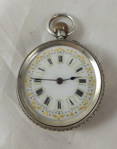 8eff12ebb Antiques Atlas - Ladies Silver Pocket Watch