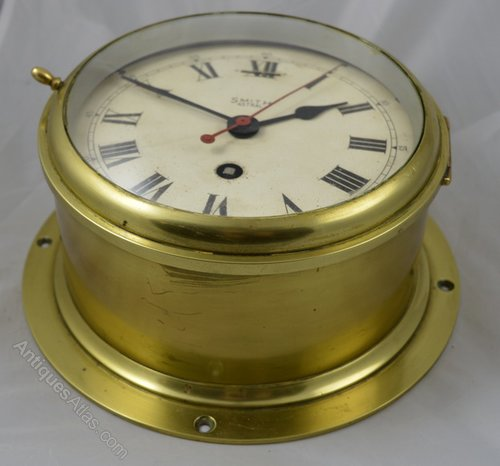 Antiques Atlas Smiths Astral Brass Ships Clock
