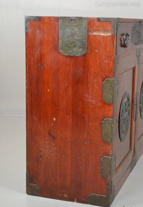 Antique Korean Camphor Wood Cabinet Sideboard Antiques Atlas