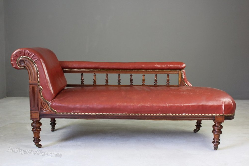 antique leather chaise longue antiques atlas. Black Bedroom Furniture Sets. Home Design Ideas