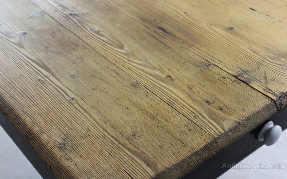 Victorian Antique Pine Kitchen Table